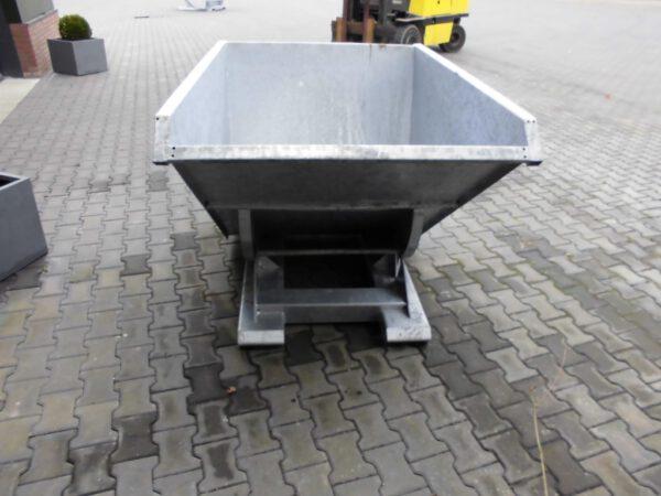 Kantelbakken afvalcontainer heftruck 1000ltr